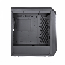 Gabinete Gamer DT3 Sports Apollo, Mid Tower, Com 3 Fans, Vidro Temperado, Black, S-Fonte
