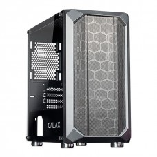 Gabinete Gamer Galax Nebulosa, Mini Tower, Vidro Temperado, Sem Fan, Black, Sem Fonte, GX700