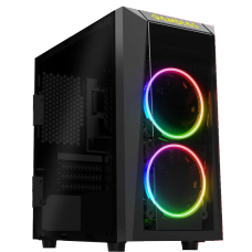 Gabinete Gamer Gamdias, Talos E1, Mini Tower, Vidro Temperado, Black, Sem Fonte, Sem Fan