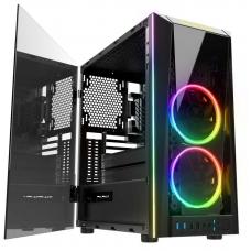 Gabinete Gamer Gamdias Talos M1A, Mid Tower, Com 2 Fans RGB, Vidro Temperado, Black, S-fonte