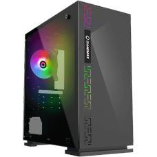 Gabinete Gamer Gamemax Dark Ranger, Mid Tower, ​​​​​​​Vidro temperado, Com 1 Fan RGB, Black, Sem Fonte, H605-TR