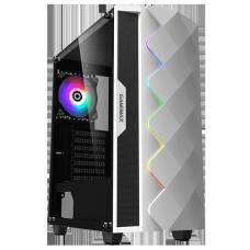 Gabinete Gamer Gamemax Diamond 3601, Mid Tower, RGB, Vidro Temperado, White, ATX, Sem Fonte, Com 1 Fan, DIAMOND 3601-W