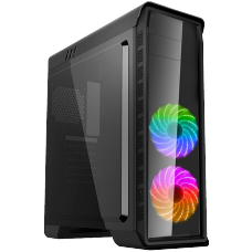 Gabinete Gamer Gamemax Elysium G503X BK Mid Tower Preto s/fonte c/led - Open Box