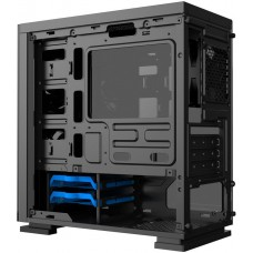 Gabinete Gamer Gamemax H605-TB, Mini Tower, Com 3 Fans RGB, Black, S-Fonte