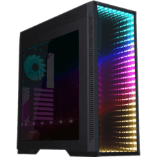 Gabinete Gamer GameMax Infinit M908 GGM RGB, Mid Tower, Com 3 Fans, Lateral Acrílico, Black, S-Fonte