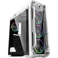Gabinete Gamer Gamemax Optical G510, Mid Tower, Com 3 Fans, Painel Lateral, White, S-Fonte