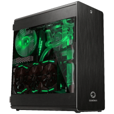 Gabinete Gamer Gamemax Raider X, Full Tower, Lateral em Acrílico, Black, Sem Fonte, Sem Fan