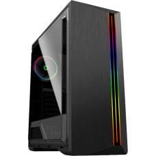 Gabinete Gamer Gamemax Shine G517, Mid Tower, Com 1 Fan, Vidro Temperado, Black, S-Fonte - Open Box