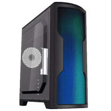 Gabinete Gamer Gamemax Wave G562W, Mid Tower, Com 1 Fan White, Lateral em Acrílico, Black, S-Fonte