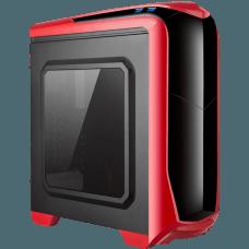 Gabinete Gamer Isolatic X2-6020R-CE/R-2U3 Red Mid Tower S/Fonte