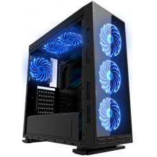 Gabinete Gamer K-MEX Anjo da Noite III, Mid Tower, Com 3 Fans Blue, Lateral em Acrílico Black, S-Fonte, CG-8FV3 Mid