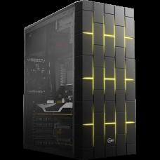 Gabinete Gamer KWG Vela M3, Mid Tower, Com 2 Fans RGB, Black, S-Fonte