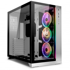 Gabinete Gamer Lian Li O11 Dynamic HOF, Mid Tower, Vidro Temperado, White, Sem Fonte, Sem Fan