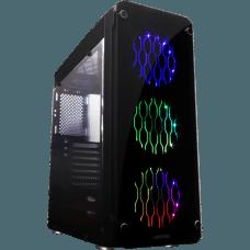 Gabinete Gamer Liketec Rutile V2 RGB Vidro Temperado Mid Tower Preto S/Fonte