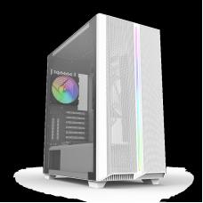 Gabinete Gamer Montech SKY ONE ARGB, Mid Tower, Vidro Temperado, WHITE, E-ATX, Sem Fonte, Com 2 Fans