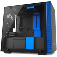 Gabinete Gamer NZXT H200, Mini Tower, Com 2 Fans, Vidro Temperado, Black-Blue, S-Fonte, CA-H200B-BL - Open Box