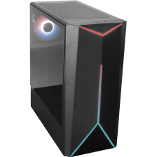 Gabinete Gamer One Power C03, Mid Tower, Com 1 Fan, Vidro Temperado, Black, S-fonte