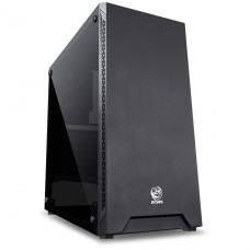 Gabinete Gamer PCyes Mars, Mid Tower, Com 1 Fan, Vidro Temperado, Black, S-Fonte, MRPTSL1FV - Open Box