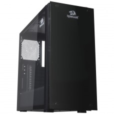 Gabinete Gamer Redragon, Cosmos, Mid Tower, Vidro Temperado, Black, Sem Fonte, Sem Fan, GC-615