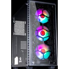 Gabinete Gamer Redragon Diamond Storm Pro, Mid Tower, Com 3 Fans RGB, Vidro Temperado, Black, S-Fonte