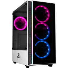 Gabinete Gamer Redragon Grapple, Mid Tower, Vidro Temperado, White, GC-607-WH, Sem Fonte, Sem Fan