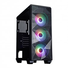 Gabinete Gamer Redragon Grindor, Mid Tower, S-Fan, Vidro Temperado, Black, S-Fonte