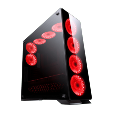 Gabinete Gamer Redragon, Ironhide RGB, Full Tower, Vidro Temperado, Black, Sem Fonte, Com 6 Fans, RD-GC-801