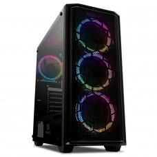 Gabinete Gamer Redragon Ramhorn, Mid Tower, S-Fan, Vidro Temperado, Black, S-fonte