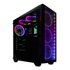 Gabinete Gamer Riotoro CR110TGS RGB, Mid Tower, Vidro Temperado, Black, Sem Fonte, Com 1 Fan