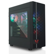 Gabinete Gamer Riotoro CR400, Mid Tower, Black, Sem Fonte, Com 2 Fans