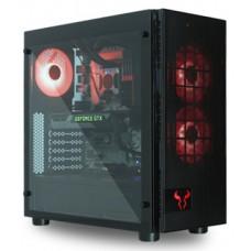 Gabinete Gamer Riotoro CR500, Mid Tower, Com 3 Fans, Vidro Temperado, Black, S-Fonte