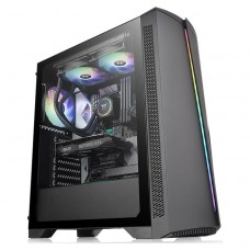 Gabinete Gamer Thermaltake H350 TG RGB, Mid Tower, Vidro Temperado, Black, ATX, Sem Fonte, Com 1 Fan, CA-1R9-00M1WN-00