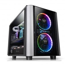 Gabinete Gamer Thermaltake Level 20 XT, E-ATX Cube Case, 4 Vidros Temperados, Black, Com 1 Fan, Sem Fonte, CA-1L1-00F1WN-00