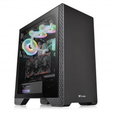 Gabinete Gamer ThermalTake, S300, Mid Tower, Vidro Temperado, Black, ATX, CA-1P5-00M1WN-00, Sem Fonte, Com 1 Fan
