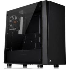 Gabinete Gamer Thermaltake Versa J21 TG, Mid Tower, S-Fan, Vidro Temperado, Black, Com Fonte 600w, CA-3K1-60M1WZ-00