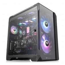 Gabinete Gamer Thermaltake View 51TG, ARGB, Full Tower, 3 Vidros Temperados, Black, CA-1Q6-00M1WN-00, Com 3 Fans, Sem Fonte