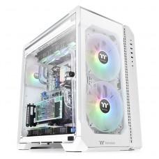 Gabinete Gamer Thermaltake View 51TG Snow, ARGB, Full Tower, 3 Vidros Temperados, White, Sem Fonte, Com 3 Fans, CA-1Q6-00M6WN-00