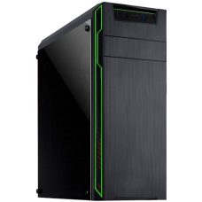 Gabinete Gamer Mymax Dragon Mid Tower, Black-Green, S-fonte, MCA-FC-F75/GR
