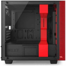 Gabinete Gamer NZXT H400I, Mid Tower, Com 2 Fans, Vidro Temperado, Black-Red, S-Fonte, CA-H400W-BR