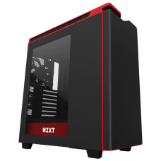 Gabinete NZXT H440 CA-H442W-M1 Mid Tower s/ Fonte Red