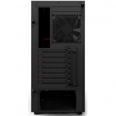 Gabinete Gamer NZXT H500, Mid Tower, Com 2 Fans, Vidro Temperado, Black-Red, S-Fonte, CA-H500B-BR