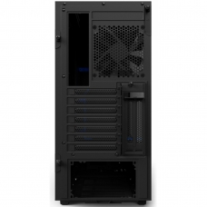 Gabinete Gamer NZXT H500I, Mid Tower, Com 2 Fans, Vidro Temperado, Black-Blue, S-Fonte, CA-H500W-BL