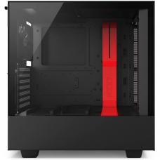 Gabinete Gamer NZXT H500I, Mid Tower, Com 2 Fans, Vidro Temperado, Black-Red, S-Fonte, CA-H500W-BR1