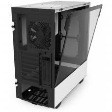 Gabinete Gamer NZXT H500I, Mid Tower, Com 2 Fans, Vidro Temperado, White, S-Fonte, CA-H500W-W1