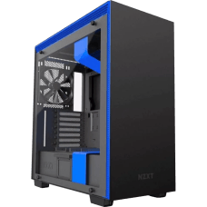 Gabinete Gamer NZXT H700i, Mid Tower, Com 4 Fans, Vidro Temperado, Black-Blue, S-Fonte, CA-H700W-BL
