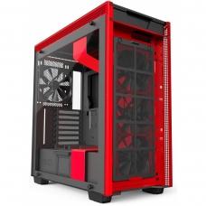 Gabinete Gamer NZXT H700i, Mid Tower, Com 4 Fans, Vidro Temperado, Black-Red, S-Fonte, CA-H700W-BR