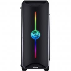 Gabinete Gamer PCyes Nova Plus RGB, Mid Tower, Com 3 Fans, Lateral de Acrílico, Black, S-Fonte, NOVPTRGB3FCA
