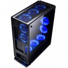 Gabinete Gamer Redragon Ironhide, Full Tower, Com 6 Fans RGB, Vidro Temperado, Black, S-Fonte, RD-GC-801