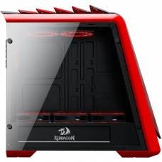 Gabinete Gamer Redragon Jetfire, Mid Tower, Com 3 Fans RGB, Vidro Temperado, Black-Red, S-Fonte, RD-GC-701