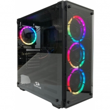 Gabinete Gamer Redragon, Wheel Jack, Mid Tower, Vidro Temperado, Black, Sem Fonte, Sem Fan, GC-606BK